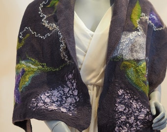 Spring Flowers Iris scarf