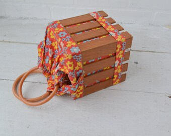 1960s Gary Gail Picket Fence Purse