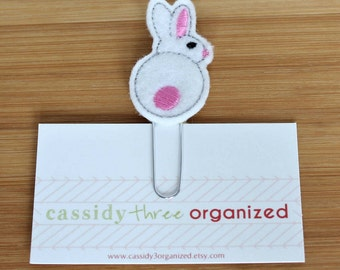 Bunny Planner Clip, planner clip, Easter planner clip, organizer, planner accessory, calendar, bookmark