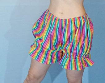 ABDL Bloomers - Adult Sissy Bloomers - Adult Baby - DDlg - DDlg Clothing - Lolita - Pink Blue Rainbow - Diaper Cover - Sissy Boy
