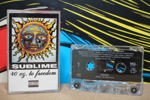 40oz. To Freedom (Gasoline Alley Records Pressing) by Sublime Vintage Cassette Tape