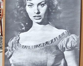Vintage 1960s Celebrity Movie Posters B&W Sophia Loren