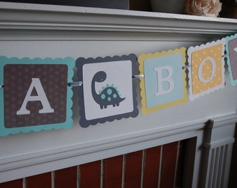 It's A Boy Banner, Baby Shower Banner, Dinosaur Baby Shower, Dinosaur Boy Baby Shower,