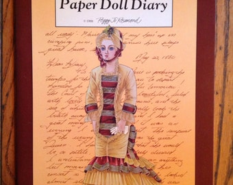 Vintage 1988 A Fashion Doll's Diary Peggy Jo Rosamond Paper Dolls Unused