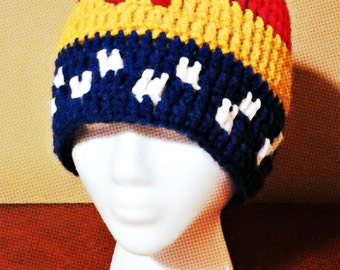 Wonder Woman Crochet Hat/Mother's Day/Wonder Woman Inspired Slouchy/Wonder Woman Handmade Hats/Wonder Woman Cosplay/Wonder Woman Costume
