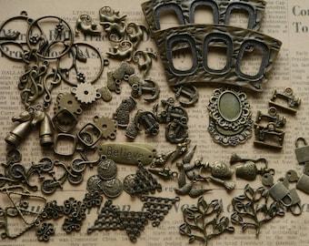 50pcs LIQUIDATION Assorted Antique Bronze Charms AMAZING DEAL