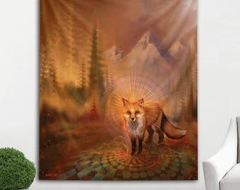 Wise Fox Tapestry by Simon Haiduk