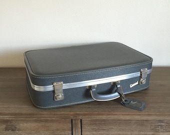 Vintage Luggage; Carousel Suitcase; Vintage Suitcase; Blue Carousel Suitcase; Vintage Blue Luggage; Baby Shower Decor