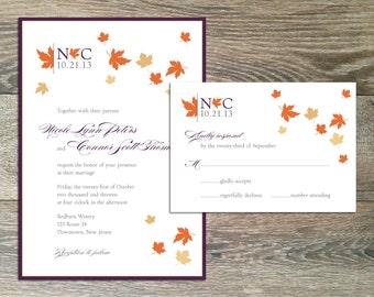 DIY Printable Wedding Invitation and Response Card: Blustery Day