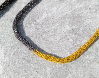 Minimalist Necklace, Long Necklace, Unique Necklace, Crochet Necklace, Delicate Necklace, Everyday Necklace, Fabric Necklace, Rope Necklace