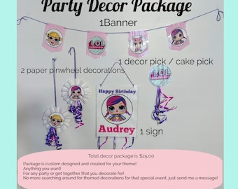 Custom Handcrafted Themed Party Decoration Package