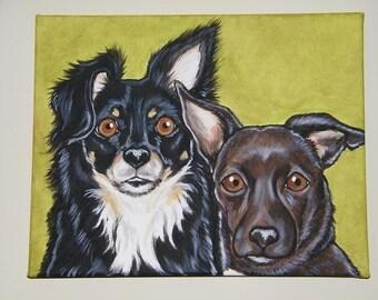 Multiple Pet Portrait Painting Custom 11x14