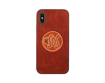 5 summer SOS iphone 7 plus case Leather iphone 7 case iPhone 8 case iphone 8 plus case iphone 6s case  iphone X case