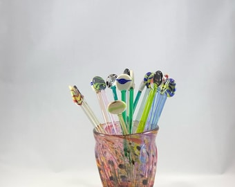 Lampwork Glass Drink Stir Sticks