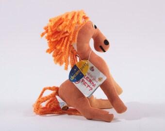 Dream Pets Orange Horse With Tag Dakin ~ Pink Room ~ 161104