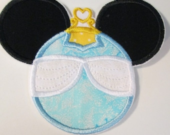 Girl Mouse Heads - Iron On or Sew On Embroidered Custom Made Appliques