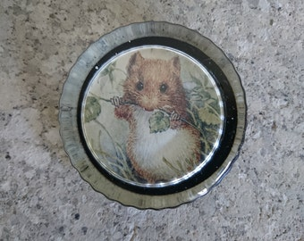 Vintage Mouse Paperweight, Glass Paperweight, Desk, Office, Mouse, Countryside, Country, Gifts, Boho, Cute, Field Mouse