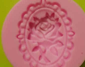 Silicone mold opaque PINK CAMEO