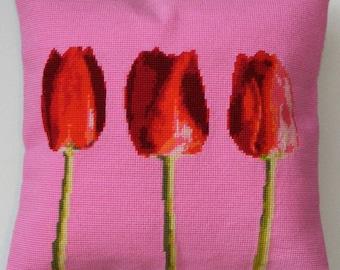 Tulips tapestry kit / needlepoint kit