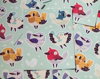 Colourful Birds Sticker Sheet