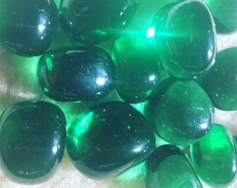 Obsidian green volcano glass, healing crystals, crystals, gemstone