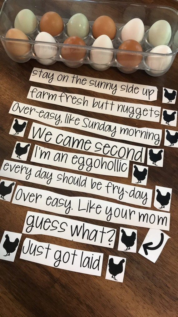 Funny Egg Carton LABELS only