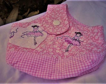 Bag fabric child - dance bag - fabric basket - girl - girl - Dance - ballerina - dancers - unique - handmade-