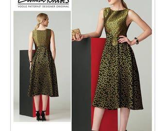 V1566 Vogue designer Zandra Rhodes dress sewing pattern
