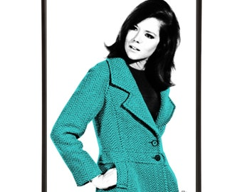 Fashion Icon Mrs Peel: Art & Hue presents The Avengers graphic pop art inspired by the cult British 1960s TV show -gallery wall art prints