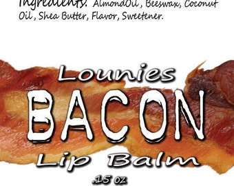Bacon Lip Balm | Flavored Lip Balm | Scented | Scented Lip Balm | Flavored Chapstick | Lip Balm | Chapstick | Chap Stick | Flavor | Meat