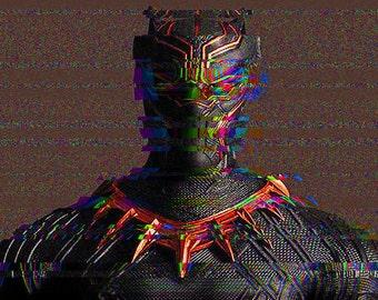 Black Panther Gitch Art