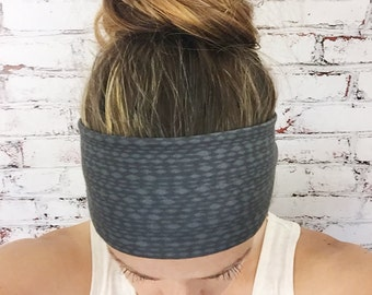 Mottled - Soft Black - Eco Friendly Yoga Headband