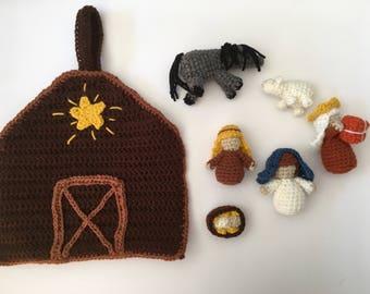 Crocheted Nativity Playset