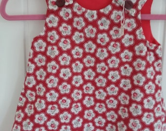 Red Rose Girls Pinafore Dress Age 6 months