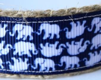 White Elephant Dog Collar