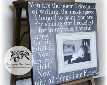 Mothers Day Frame, You Are The Poem, Grandma Gift Frame, Grandparents Day, Grandmother, MiMi, Nana 16x16 The Sugared Plums Frames
