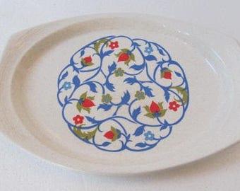 "Brendan Heather Bell Houseware Large Oblong Erin Stone Ceramic Serving Platter Tray 12""  Made in Ireland"