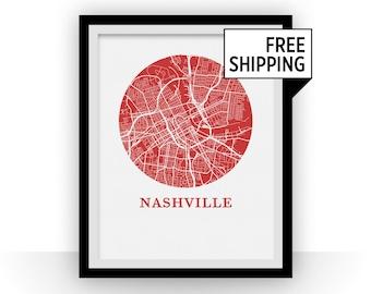 Nashville Map Print - City Map Poster