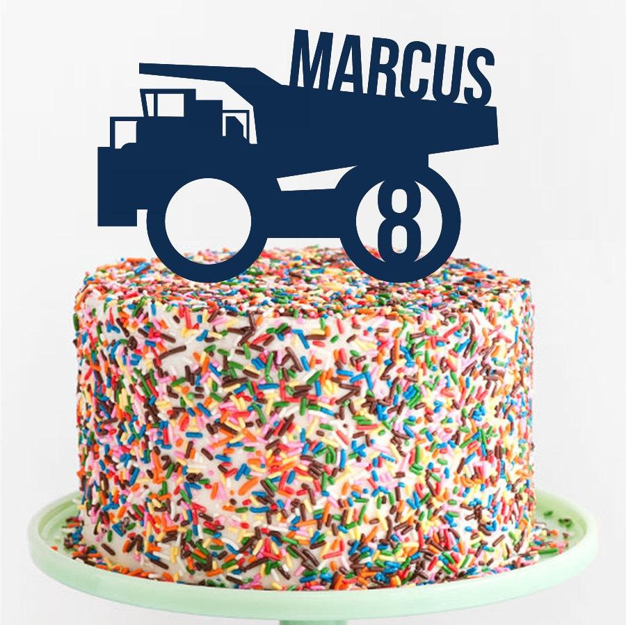Dump Truck Birthday Cake Topper Custom Acrylic Cake Topper Laser