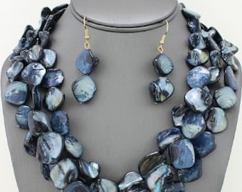 Multi-Strand Shell Necklace