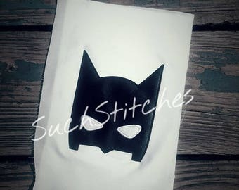 Bat Head Applique Peeker Machine Embroidery Design