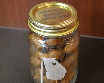 Canning Jars With Your State of Choice Miss You Gift - You Fill With Your Own Contents