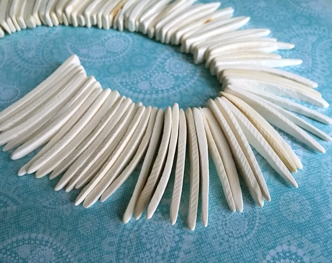 Featured listing image: Natural Wood Stick Beads - coconut indian stick 1.5 to 2 inch - 25pcs  (PC202FF)