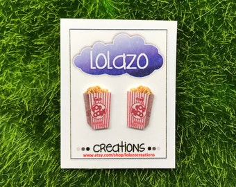 Popcorn Earrings, Popcorn, Palomitas de Maiz, Earrings
