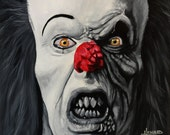 """Pennywise from IT - Art Print Reproduction 10"""" x 12"""" - signed by Artist"""