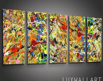 Metal Wall Art Home Decor Sculpture Pollock 6