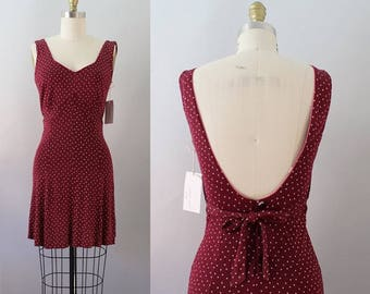 TRUE VINTAGE 1940's nightgown slip dress swimsuit cover up adorable!