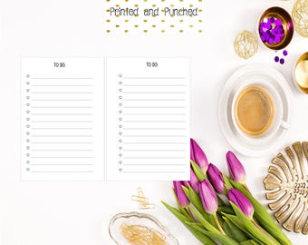 Printed To Do List Inserts for Pocket Filofax/Small Kikki Planners