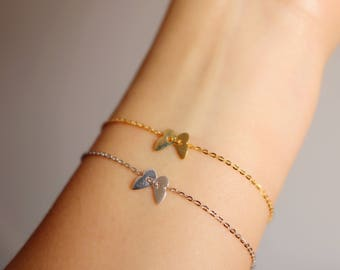 Sterling Silver Butterfly bracelet delicate butterfly jewelry butterfly gift for her
