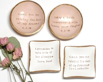 Mother of the Bride Gift / Mother of the Groom Gift / Personalized Ring Dish / Personalized Jewelry Dish / Personalized Gift / Wedding Gift